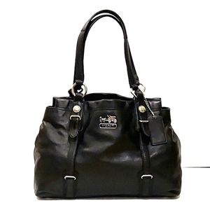 Coach Mia Leather Carryall Shoulder Bag!